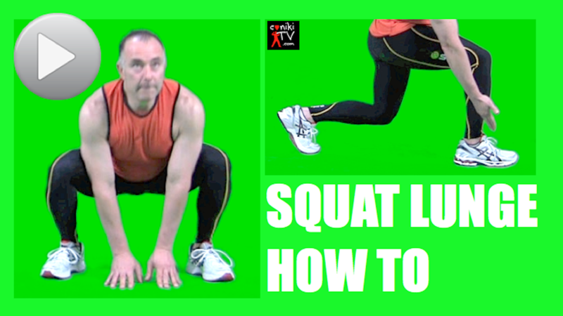 Squat lunge how to